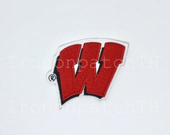 Wisconsin Badgers Embroidered Iron On Patch