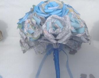 map bouquet alternative wedding bouquet