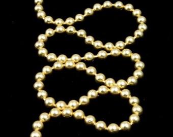 2.3mm mat goud balletjes ketting #CC43