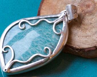 Amazonite Sterling Silver Pendant
