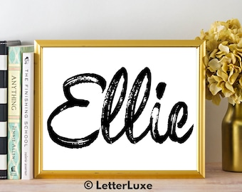 Ellie Name Art - Printable Gallery Wall - Living Room Printable - Digital Print - Bedroom Decor - Last Minute Gift for Mom or Girlfriend