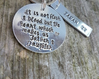 Personalised step dad gift keychain father's Day gift