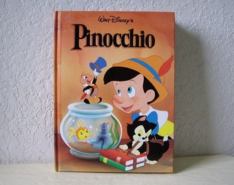 Book:  Walt Disney's PINOCCHIO, A Mouse Works Classic Storybook,  1986. Like New.