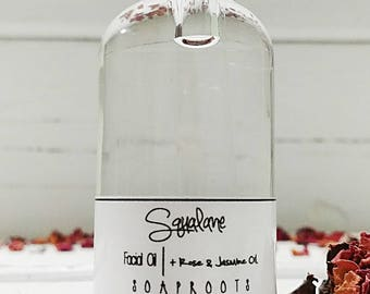 Squalane - Rose & Jasmine Facial Serum - Face Oil