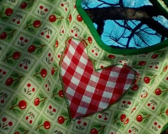 Children's Cherries and Hearts Size 4/5 Apron