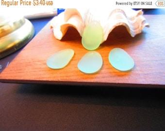 ON SALE Culture Sea Glass Hyponic Pendant, 33x20 mm SeaFoam - 2 per order