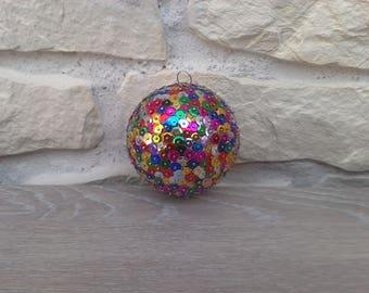 Christmas ornament handmade sequins