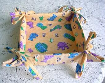 Don de tissu orange de pliage rangement panier - enfants moderne ou chambre d'enfant Motif Animal Pliable rangement - Baby Shower - Shabby Chic chalet