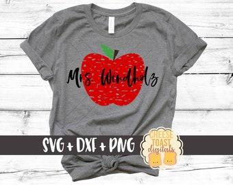 Apple SVG, Grunge Svg, Teacher Svg, Distressed Svg, Teacher Appreciation, Cut File, Teacher Gift, Svg Files for Cricut, Silhouette