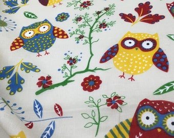 Cute Owl Cotton Fabric  04102