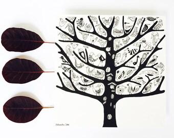 TREE birds card