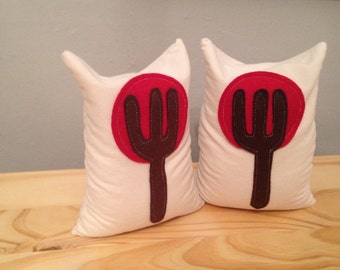 Little Red Tree Bean Bag Bookends