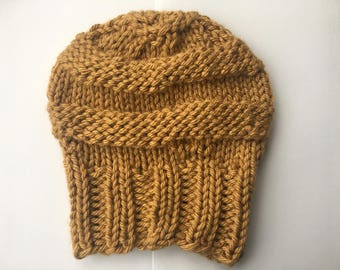 Gold Knit Hat
