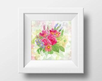 Floral Print from Original Watercolor