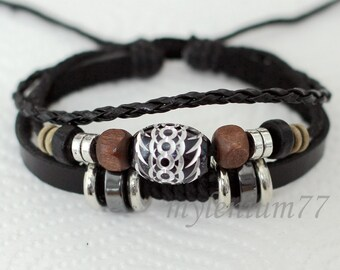 084 Men bracelet Women bracelet Beads bracelet Rings bracelet Leather bracelet Braided bracelet Woven bracelet Fashion bracelet
