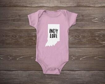 Indiana Love Baby Onesie