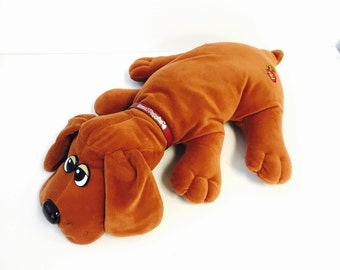 Vintage 80s pound puppy brown large plush stuffed animal