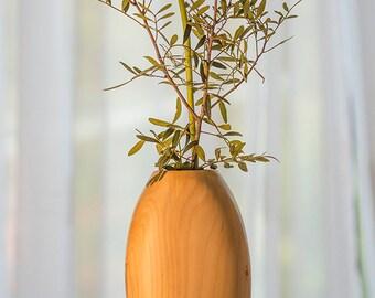 Handmade Wooden Vase, Hand carved wooden vase, Dried flower vase,