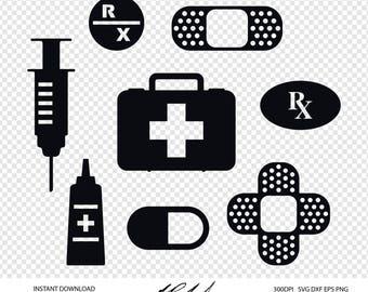 First Aid Digital Cut Files - Digital Files - First Aid SVG - First Aid DXF - First Aid EPS - First Aid png - Bandage svg - Nursing svg dxf