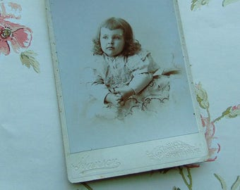 Victorian Girl -  Antique Cabinet Card Photograph