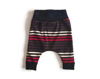 Baby harem pants, striped harem pants  for toddler baby, baby shower gift, gender neutral baby clothes, trendy baby clothes