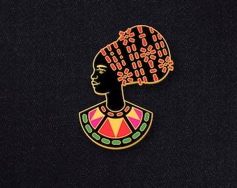 Pre-Order Beautiful Queen of Benin Enamel Pin