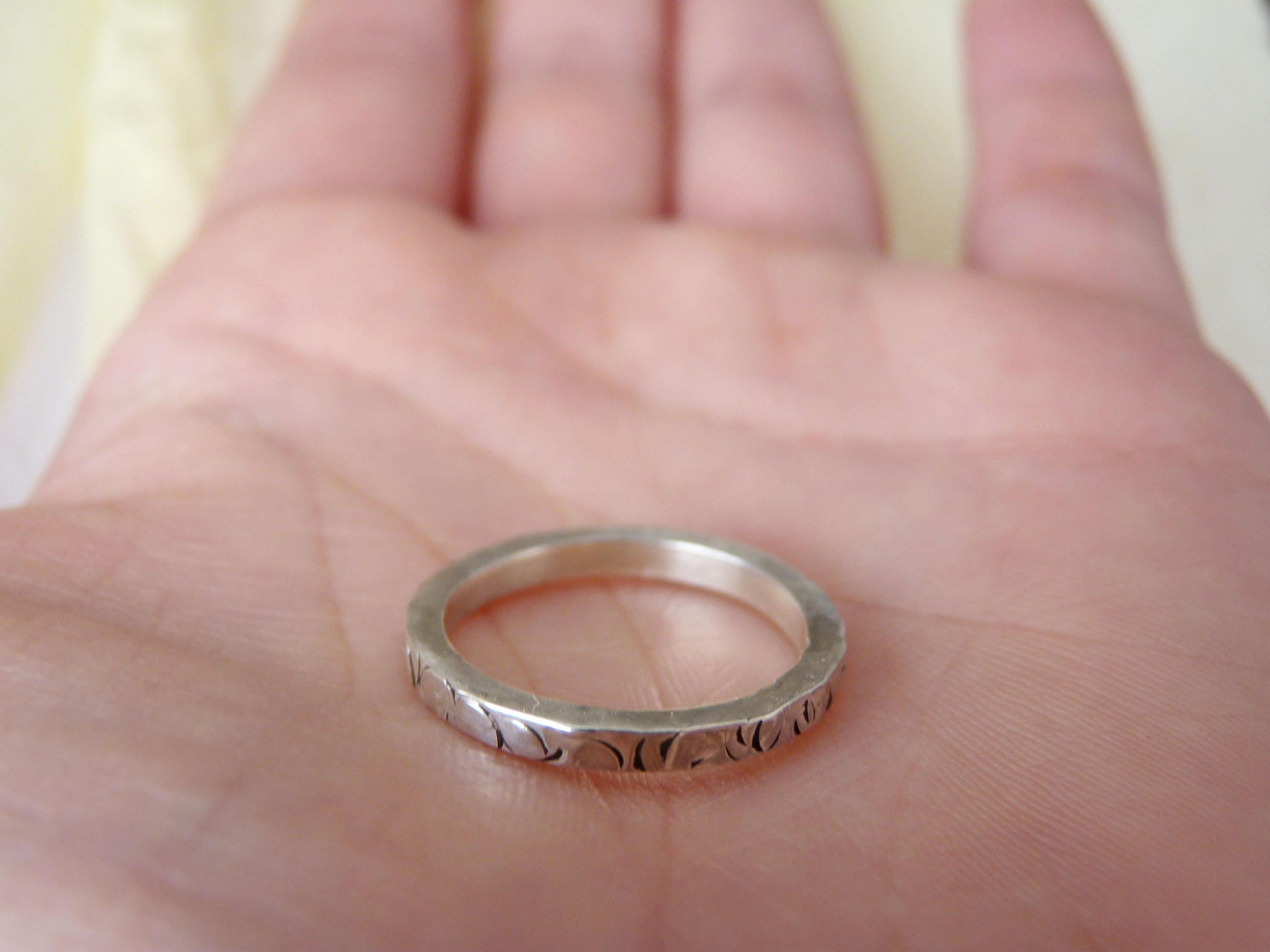 Wedding Stacking rings Hammered Stackable minimalist simple