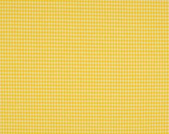 Gingham yellow 2mm 100% cotton