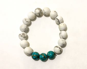 Howlite Gemstone Stacking Bracelet