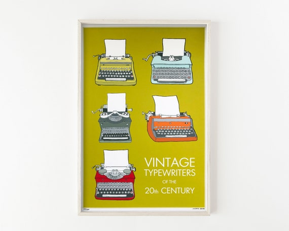 """Typewriters of the 20th Century"" - wall art print"