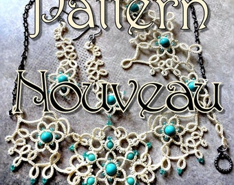 "Tatting Pattern ""Nouveau"" Jewelry Set PDF Instant Download"