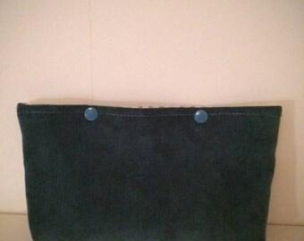 Mini bag or petrol Blue Velvet pouch
