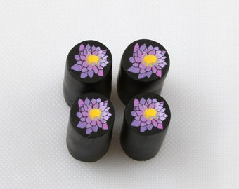 Raw uncured Water Lily - Lotus Blossom polymer clay cane