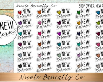 Shop Owner- New Releases Planner Stickers