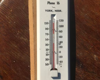 Vintage 40s Thermometer Nebraska Miller Seed and Supply Co Made in USA