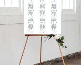 Seating Chart - Teal Garden (Style 13744)