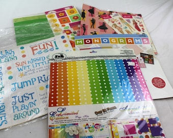 lot of 5 designing done for you scrapbook lit