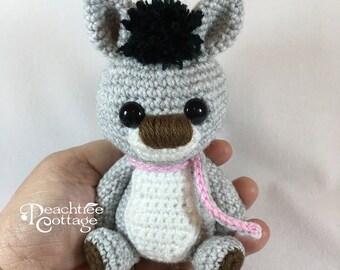 Crochet Amigurumi Donkey, Crochet Donkey, Diego the Donkey, Handmade Donkey, Crochet Toy, Stuffed Donkey, Miniature Donkey Amigurumi Toy