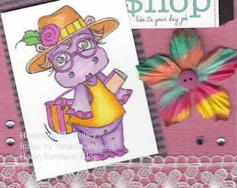 1701 Fashion Hippo Digi Stamp