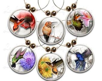 Hummingbird Wine Charms,  Bird Wine Glass Charm, Wine Gifts, Hummingbird Gifts, Bird Lover, Bird Watcher, Bird Gifts, Wine Accessories