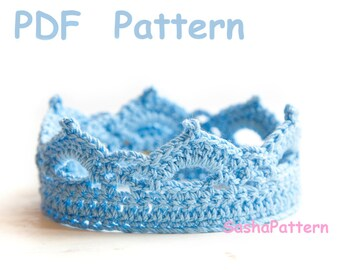 Crochet Crown Pattern - Baby crochet tiara - Easy level crochet