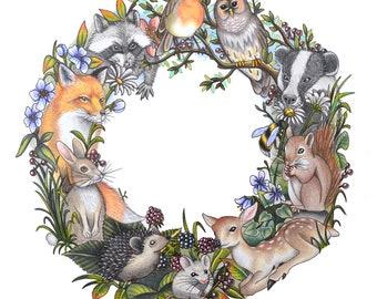 Woodland Circle Print