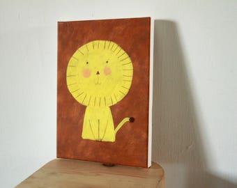 sweet lion canvas print , home decor, wall decor, wall art, nursery design