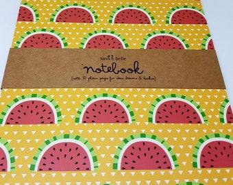 Tropical Summer Watermelon A5 Notebook
