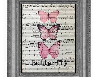 Butterfly, Pink Butterfly, Butterfly Art Print, Pink Butterfly, Pink Color Butterfly, Butterfly, Butterfly Wall Art, Butterfly Decor Pink