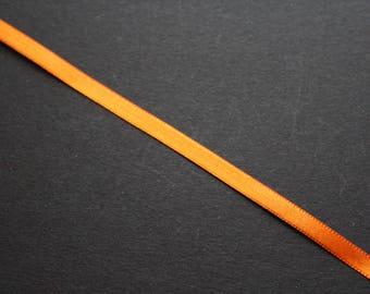 1 m orange 6mm satin ribbon