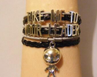 Alien bracelet, alien jewelry, sci-fi bracelet, sci-fi jewelry, geeky bracelet, geeky jewelry, fashion bracelet, fashion jewelry