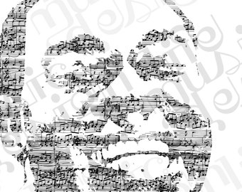 Louis Armstrong Music Print