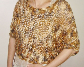 Knit Loose Sweater for Womens Gift in Earth tones colors womens hippie clothing -