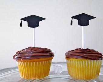 Dozen Graduation Cap Cupcake Topper | Dessert | Decoration | Party | College | High School | Graduate | University | Kindergarten | School